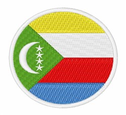 The Comoros Flag embroidery design