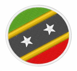 Saint Kitts And Nevis Flag embroidery design