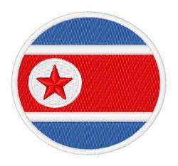 North Korea Flag embroidery design