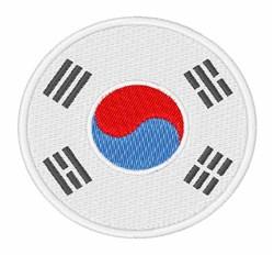 Korea Flag embroidery design