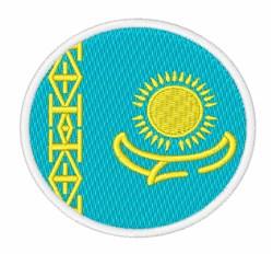 Kazakhstan Flag embroidery design