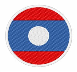Laos Flag embroidery design