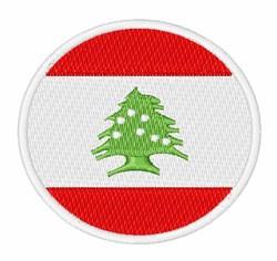 Lebanon Flag embroidery design