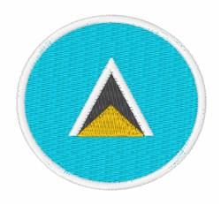 Saint Lucia Flag embroidery design