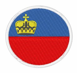 Liechtenstein Flag embroidery design