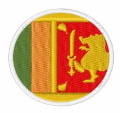 Sri Lanka Flag embroidery design