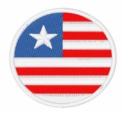 Liberia Flag embroidery design