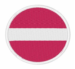 Latvia Flag embroidery design