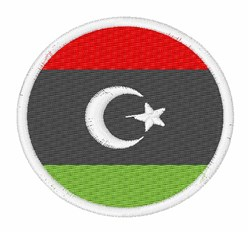 Libya Flag embroidery design