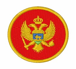 Montenegro Flag embroidery design