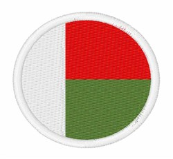 Madagascar Flag embroidery design
