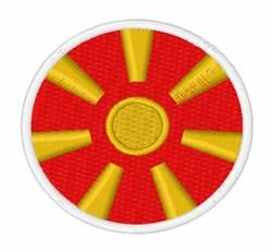 Macedonia Flag embroidery design