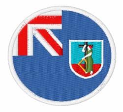 Montserrat Flag embroidery design
