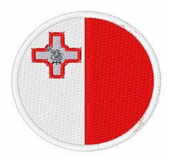 Malta Flag embroidery design