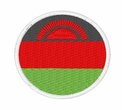 Malawi Flag embroidery design