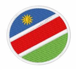 Namibia Flag embroidery design