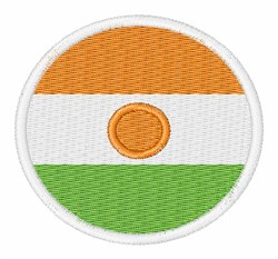 Niger Flag embroidery design