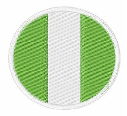 Nigeria Flag embroidery design