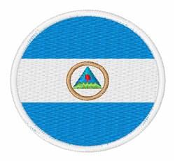 Nicaragua Flag embroidery design