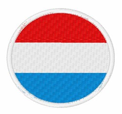 The Netherlands Flag embroidery design