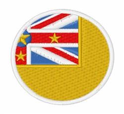 Niue Flag embroidery design