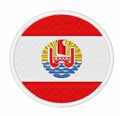 French Polynesia Flag embroidery design