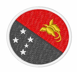 Papua New Guinea Flag embroidery design