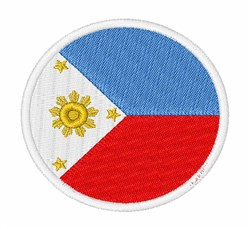 The Philippines Flag embroidery design