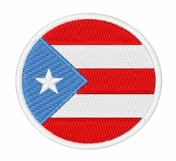 Puerto Rico Flag embroidery design