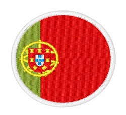 Portugal Flag embroidery design