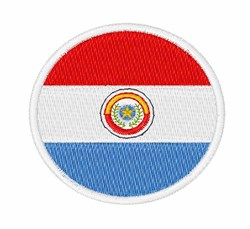 Paraguay Flag embroidery design
