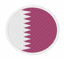 Qatar Flag embroidery design