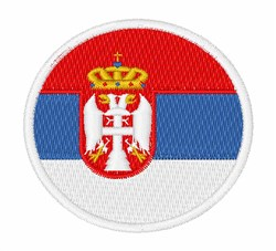 Serbia Flag embroidery design