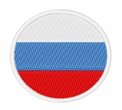 Russia Flag embroidery design