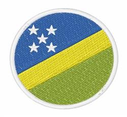 Soloman Islands Flag embroidery design