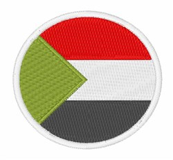 Sudan Flag embroidery design