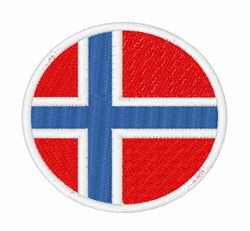 Svalbard And Jan Mayen Flag embroidery design