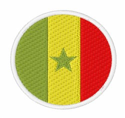 Senegal Flag embroidery design