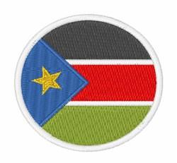 South Sudan Flag embroidery design