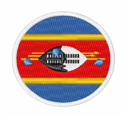 Swaziland Flag embroidery design