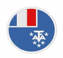 French Southern Territories Flag embroidery design