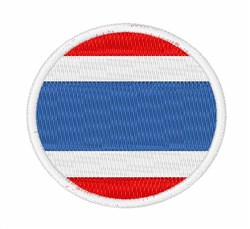 Thailand Flag embroidery design