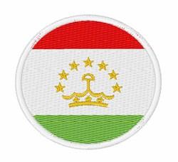 Tajikistan Flag embroidery design