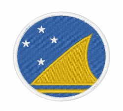 Tokelau Flag embroidery design