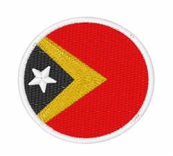 Timor-Leste Flag embroidery design