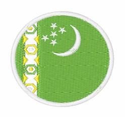 Turkmenistan Flag embroidery design