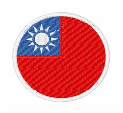 Republic Of China Flag embroidery design