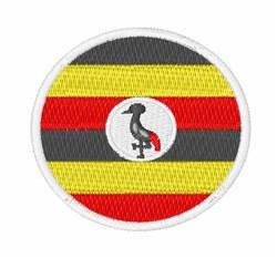 Uganda Flag embroidery design