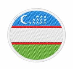Uzbekistan Flag embroidery design