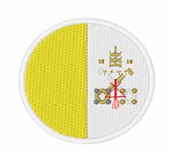 Vatican City Flag embroidery design